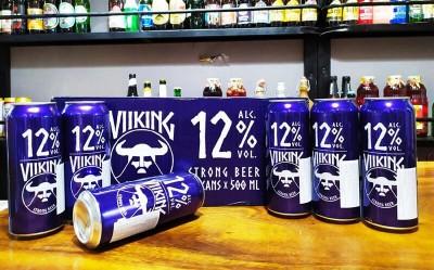Bia Viiking Extra Strong 12%-lon500ml