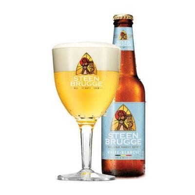 Bia Steenbrugge Wit 4.8%-Chai 330ml