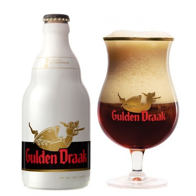 Bia nâu Gulden Draak 10,5% - chai 330 ml
