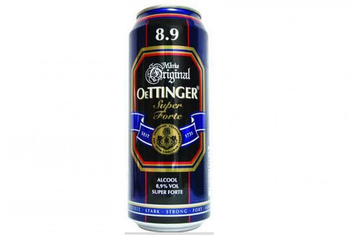 Bia nặng Oettinger 8,9% - lon 500ml