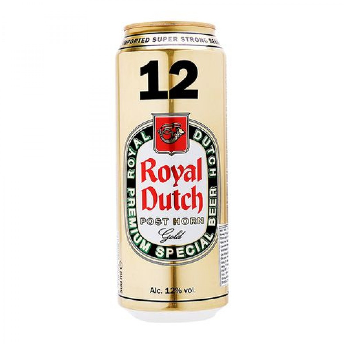 Bia Royal Dutch Gold 12%–lon 500ml