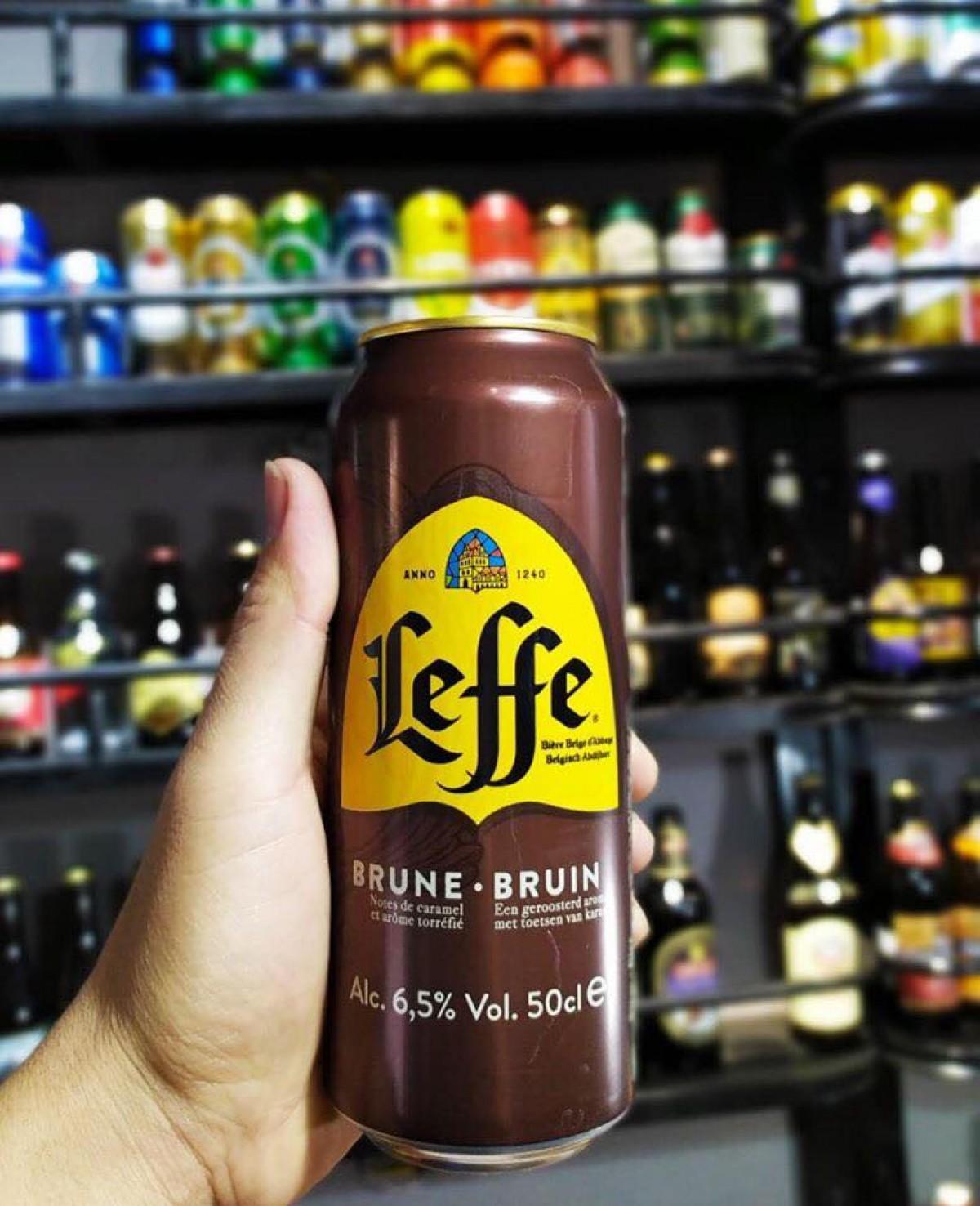 Bia Leffe Brune Bỉ 6.5% -Lon 500 ml