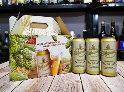 Hộp quà tết bia Eibauer Hefeweizen Hell 5.2%-Lon 500ml