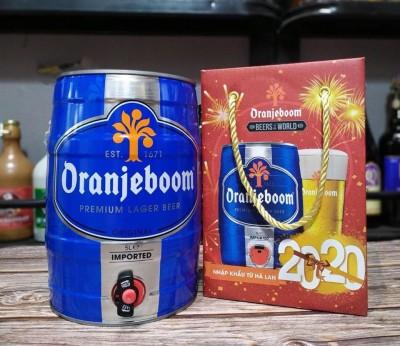 Bia Oranjeboom Premium Lager Imported 5%-Bom 5l