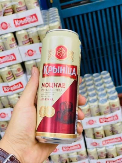 Bia Krynica Strong 6.5%–Lon 450ml